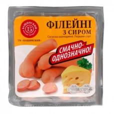 Сосиски Бащинский Филейные с сыром 1с п/а газ/уп 480г